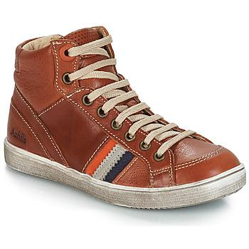 Schoenen Jongens Hoge sneakers GBB ANGELO Brown