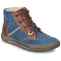 Schoenen Jongens Laarzen Catimini RUMEX Blauw / Brown