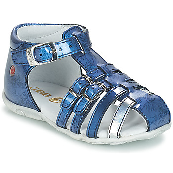Schoenen Meisjes Sandalen / Open schoenen GBB SAMIRA Vvn / Bleu-imprime / Dpf / Zabou