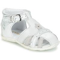 Schoenen Meisjes Sandalen / Open schoenen GBB SUZANNE Vte / Gris-argent / Dpf / Zabou
