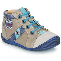 Schoenen Jongens Laarzen GBB SILVIO Beige / Blauw