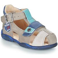 Schoenen Jongens Sandalen / Open schoenen GBB SULLIVAN Vtc / Taupe-bleu / Dpf / Filou
