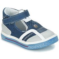 Schoenen Jongens Sandalen / Open schoenen GBB SALVADORE Vte / Marine-wit / Dpf / Times