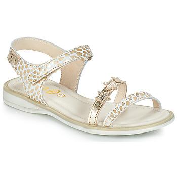 Schoenen Meisjes Sandalen / Open schoenen GBB SWAN Wit / Goud