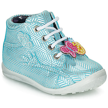 Schoenen Meisjes Hoge sneakers Catimini SALAMANDRE Blauw / Zilver