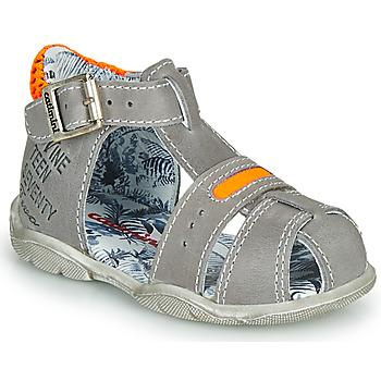 Schoenen Jongens Sandalen / Open schoenen Catimini SPHINX Nus / Grijs-oranje / Fluo / Dpf / Filou