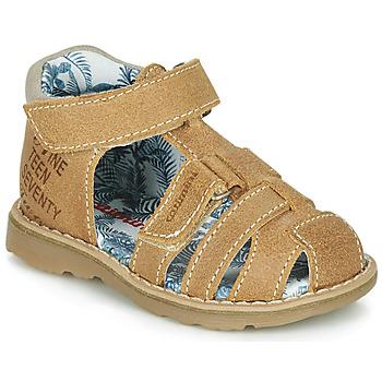 Schoenen Jongens Sandalen / Open schoenen Catimini SYCOMORE Crt / Fauve / Dpf / Trony