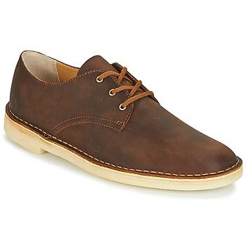 Schoenen Heren Derby Clarks DESERT CROSBY Brown