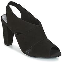 Schoenen Dames Sandalen / Open schoenen KG by Kurt Geiger FOOT-COVERAGE-FLEX-SANDAL-BLACK Zwart