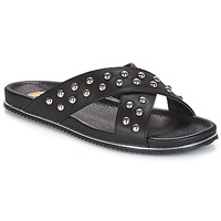 Schoenen Dames Leren slippers Buffalo ALOLAJEP Zwart