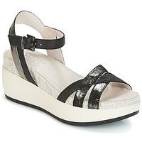 Schoenen Dames Sandalen / Open schoenen Lumberjack BLANCHE Zwart / Zilver