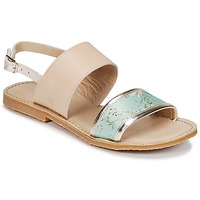 Schoenen Meisjes Sandalen / Open schoenen Citrouille et Compagnie IOCHARLI Beige / Blauw
