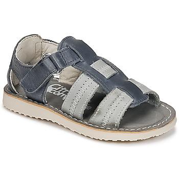 Schoenen Jongens Sandalen / Open schoenen Citrouille et Compagnie IOUTIKER Blauw / Grijs