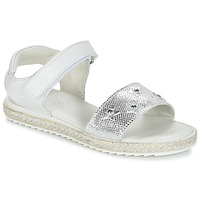 Schoenen Meisjes Sandalen / Open schoenen Citrouille et Compagnie ILEVANDOK Wit / Zilver