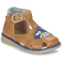 Schoenen Jongens Sandalen / Open schoenen Citrouille et Compagnie ISKILANDRO Brown / Blauw