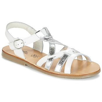 Schoenen Meisjes Sandalen / Open schoenen Citrouille et Compagnie IMONGI Wit / Zilver