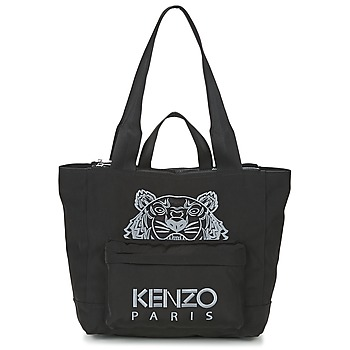 Tassen Dames Tote tassen / Boodschappentassen Kenzo KANVAS TIGER TOTE LARGE Zwart