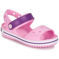 Schoenen Meisjes Sandalen / Open schoenen Crocs CROCBAND SANDAL Carnation / Roze / Paars