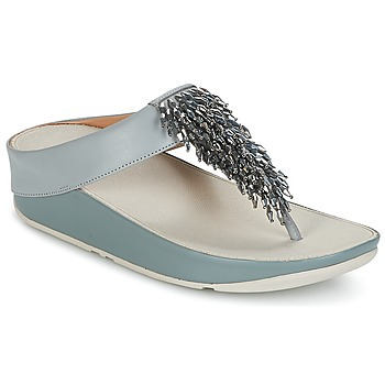 Schoenen Dames Slippers FitFlop CHA-CHA TOE-THONG SANDALS CRYSTAL Blauw
