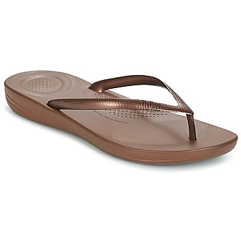 Schoenen Dames Slippers FitFlop IQUSHION ERGONOMIC FLIP FLOPS Brons