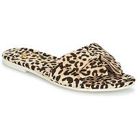 Schoenen Dames Leren slippers Lola Ramona COCCO Leopard