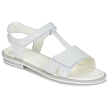 Schoenen Meisjes Sandalen / Open schoenen Geox J S.GIGLIO A Wit