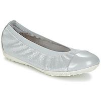 Schoenen Meisjes Ballerina's Geox J PIUMA BAL A Grijs / Zilver