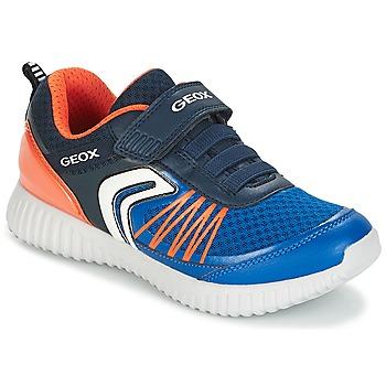 Schoenen Jongens Lage sneakers Geox J WAVINESS B.C Marine / Orange