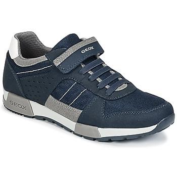 Schoenen Jongens Lage sneakers Geox J ALFIER B. A Marine / Grijs
