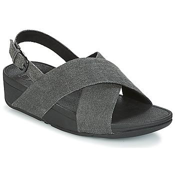 Schoenen Dames Sandalen / Open schoenen FitFlop LULU CROSS BACK-STRAP SANDALS Zwart