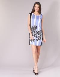 Textiel Dames Korte jurken Sisley LAPOLLA Blauw / Wit / Zwart