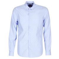 Textiel Heren Overhemden lange mouwen Sisley KELAPSET Blauw / Clair