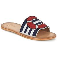 Schoenen Dames Leren slippers Miss L'Fire ALL ABOARD Marine