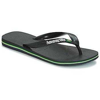 Schoenen Slippers Havaianas BRAZIL LOGO Zwart