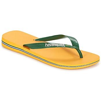 Schoenen Slippers Havaianas BRAZIL LOGO Geel