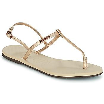 Schoenen Dames Sandalen / Open schoenen Havaianas YOU RIVIERA Beige