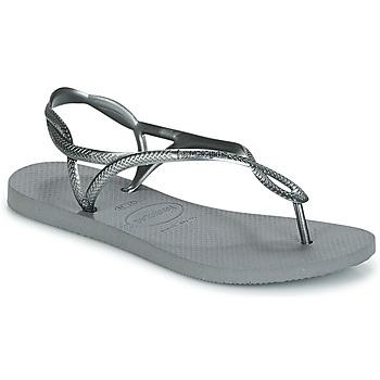 Schoenen Dames Slippers Havaianas LUNA Zilver