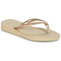 Schoenen Meisjes Slippers Havaianas SLIM Beige
