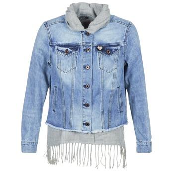 Textiel Dames Spijker jassen Scotch & Soda XAOUDE Blauw / Clair / Grijs