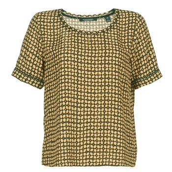 Textiel Dames Tops / Blousjes Scotch & Soda SINIM Zwart / Mosterd