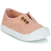 Schoenen Meisjes Lage sneakers Victoria INGLESA LONA TINTADA Roze