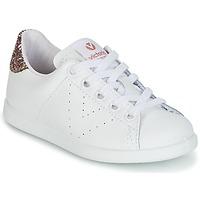 Schoenen Meisjes Lage sneakers Victoria DEPORTIVO BASKET PIEL KID Wit