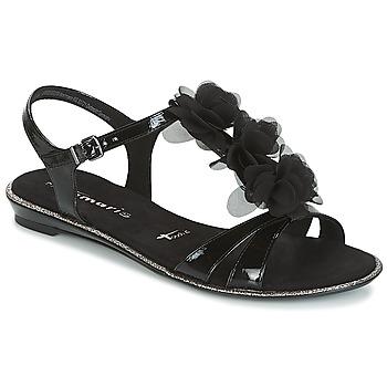 Schoenen Dames Sandalen / Open schoenen Tamaris GACAPI Zwart