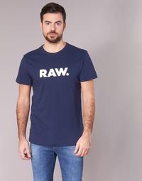 Textiel Heren T-shirts korte mouwen G-Star Raw HOLORN R T S/S Marine