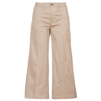 Textiel Dames Chino's G-Star Raw BRONSON HIGH LOOSE CHINO 7/8 WMN Beige