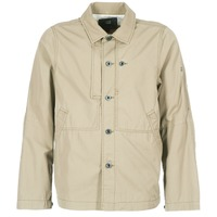 Textiel Heren Wind jackets G-Star Raw RACKAM OVERSHIRT Beige