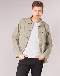 Textiel Heren Wind jackets G-Star Raw RACKAM OVERSHIRT Beige