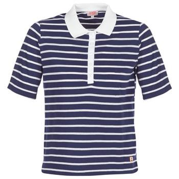 Textiel Dames Polo's korte mouwen Armor Lux POLAED Marine / Wit