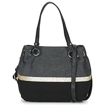 Tassen Dames Handtassen lang hengsel Fuchsia GAUTIER 6 Zwart / Grijs