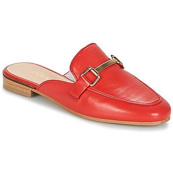 Schoenen Dames Leren slippers Jonak SIMONE Rood